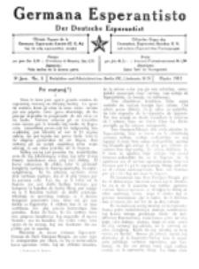 Germana Esperantisto : monata gazeto por la vastigado de la lingvo Esperanto. Jaro 8, No 3 (marto1911)