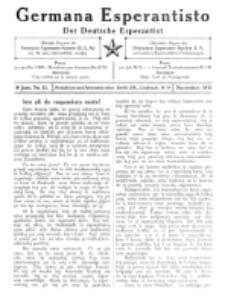 Germana Esperantisto : monata gazeto por la vastigado de la lingvo Esperanto. Jaro 8, No 11 (novembro1911)