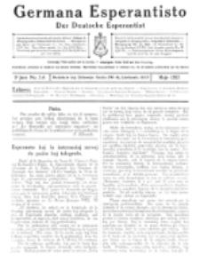 Germana Esperantisto : monata gazeto por la vastigado de la lingvo Esperanto. Jaro 9a, No 5a (majo1912)
