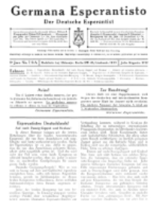 Germana Esperantisto : monata gazeto por la vastigado de la lingvo Esperanto. Jaro 9a, No 7/8a (julio/aug.1912)
