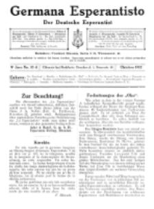 Germana Esperantisto : monata gazeto por la vastigado de la lingvo Esperanto. Jaro 9a, No 10a (oktobro1912)