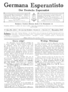 Germana Esperantisto : monata gazeto por la vastigado de la lingvo Esperanto. Jaro 9a, No 12a (decembro1912)