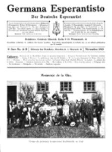 Germana Esperantisto : monata gazeto por la vastigado de la lingvo Esperanto. Jaro 9a, No 11b (novembro1912)