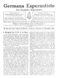 Germana Esperantisto : monata gazeto por la vastigado de la lingvo Esperanto.Jaro 10a, No 11a (novembro1913)