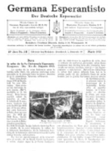 Germana Esperantisto : monata gazeto por la vastigado de la lingvo Esperanto.Jaro 10a, No 3b (marto1913)