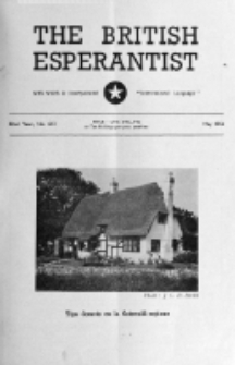 The British Esperantist : the official organ of the British Esperanto Association. Vol. 52, no 613 (May 1956)