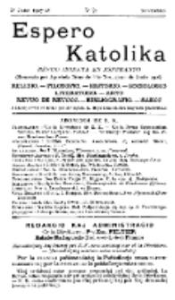 Espero Katolika.Jaro 5a, No 42 (1907/1908)