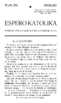 Espero Katolika.Jaro 10a (januaro 1913)