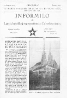 Informilo de Ligo de Katolikaj Esperantistoj en Ĉeĥoslovakujo.Januaro 1936