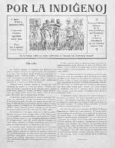 Por la Indiĝenoj : esperanta bulteno eldonata de la Internacia Oficejo por Protektado de la Indiĝenoj. Jaro 1, No 1 (januaro 1923)