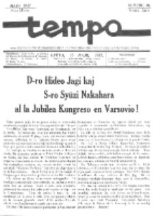 Tempo : monata gazeto. Jaro 4, No 30 (majo1937)