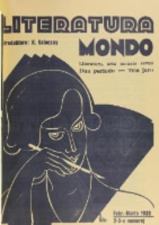Literatura Mondo. Periodo 2, Jaro 3, numero 2/3 (Febr.-Marto 1933)