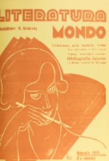Literatura Mondo. Periodo 2, Jaro 3, numero 8 (Augusto 1933)