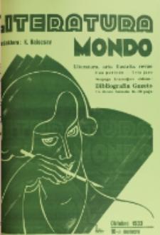 Literatura Mondo. Periodo 2, Jaro 3, numero 10 (Oktobro 1933)