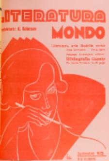 Literatura Mondo. Periodo 2, Jaro 3, numero 9 (Septembro 1933)