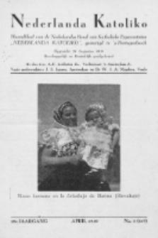 """Nederlanda Katoliko : maandblad, officieel orgaan van den Nederl. R.-Kath. Esperantistenbond """"Nederlanda Katoliko"""". Jg. 29, no 3 (1949)"""