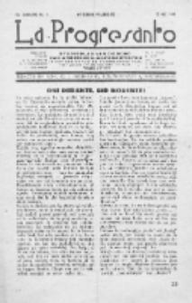 La Progresanto : studieblad van de Federatie van Arbeiders-Esperantisten in het Gebied van de Nederlandse Taal. Jaargang 11, no 5 (Mei 1949)