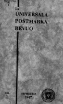 The Universal Postage Stamp Review. Vol. 1, no 7 (September 1947)