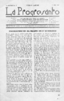 La Progresanto : studieblad van de Federatie van Arbeiders-Esperantisten in het Gebied van de Nederlandse Taal. Jaargang 11, no 6 (Juni 1949)