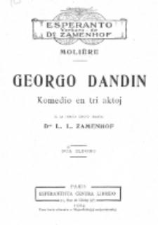 Komedio Dandin : komedio en tri aktoj. Dua Eldono.