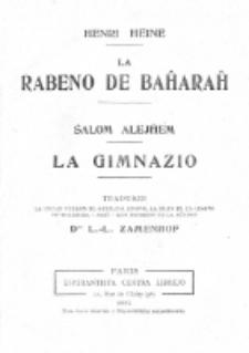 La Rabeno de Baĥaraĥ.