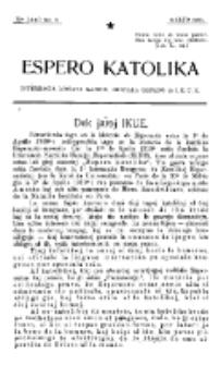 Espero Katolika.Jaro 12a, No 3 (1920)