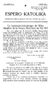 Espero Katolika.Jaro 12a, No 5 (1920)