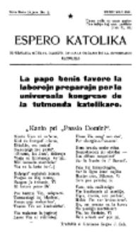 Espero Katolika.Nova Serio Jaro 1, No 2 (1921)