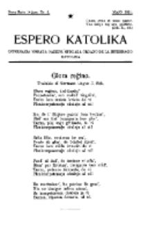 Espero Katolika.Nova Serio Jaro 1, No 5 (1921)