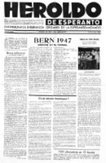 Heroldo de Esperanto : neŭtrale organo la Esperanto-modavo. Jarkolekto 22 (1946), nr 8=1057 (15 novembro)