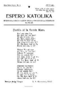 Espero Katolika.Nova Serio Jaro 1, No 6 (1921)