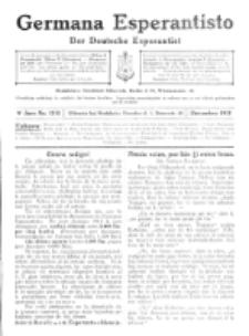 Germana Esperantisto : monata gazeto por la vastigado de la lingvo Esperanto. Jaro 9a, No 12b (decembro1912)