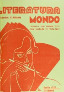 Literatura Mondo. Periodo 2, Jaro 3, numero 4 (Aprilo 1933)