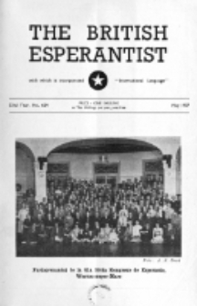 The British Esperantist : the official organ of the British Esperanto Association. Vol. 53, no 624 (May 1957)