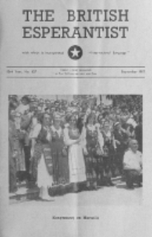 The British Esperantist : the official organ of the British Esperanto Association. Vol. 53, no 627 (September 1957)