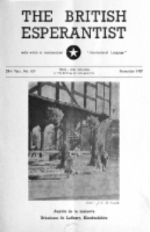 The British Esperantist : the official organ of the British Esperanto Association. Vol. 53, no 629 (November 1957)