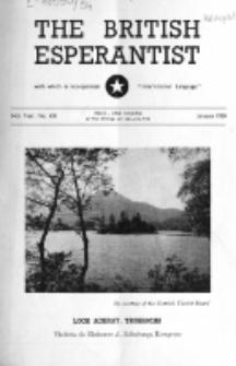 The British Esperantist : the official organ of the British Esperanto Association. Vol. 54, no 631 (January 1958)