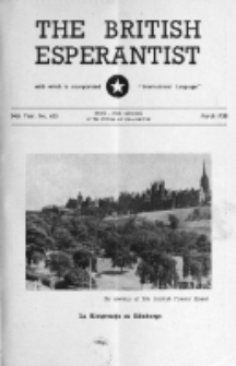 The British Esperantist : the official organ of the British Esperanto Association. Vol. 54, no 633 (March 1958)