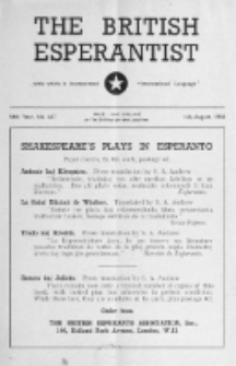 The British Esperantist : the official organ of the British Esperanto Association. Vol. 54, no 637 (July-August 1958)