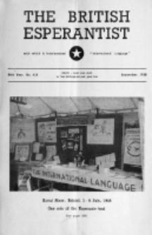 The British Esperantist : the official organ of the British Esperanto Association. Vol. 54, no 638 (September 1958)