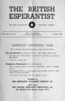 The British Esperantist : the official organ of the British Esperanto Association. Vol. 54, no 639 (October 1958)