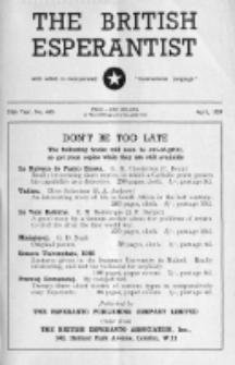 The British Esperantist : the official organ of the British Esperanto Association. Vol. 55, no 645 (April 1959)
