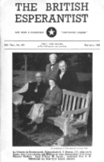 The British Esperantist : the official organ of the British Esperanto Association. Vol. 56, no 654 (February 1960)