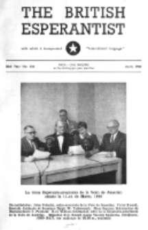 The British Esperantist : the official organ of the British Esperanto Association. Vol. 56, no 656 (April 1960)