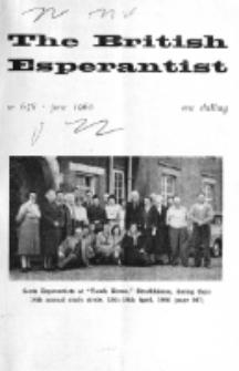 The British Esperantist : the official organ of the British Esperanto Association. Vol. 56, no 658 (June 1960)