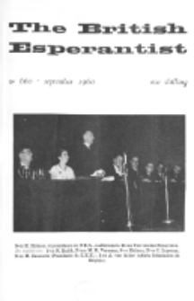 The British Esperantist : the official organ of the British Esperanto Association. Vol. 56, no 660 (September 1960)
