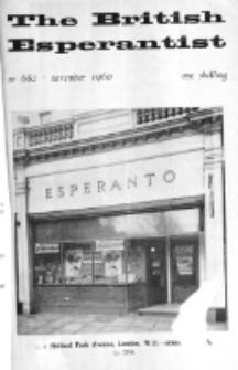 The British Esperantist : the official organ of the British Esperanto Association. Vol. 56, no 662 (November 1960)