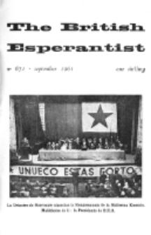 The British Esperantist : the official organ of the British Esperanto Association. Vol. 57, no 671 (September 1961)