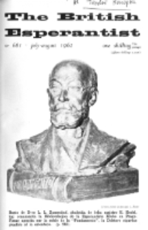 The British Esperantist : the official organ of the British Esperanto Association. Vol. 58, no 681 (July-August 1962)