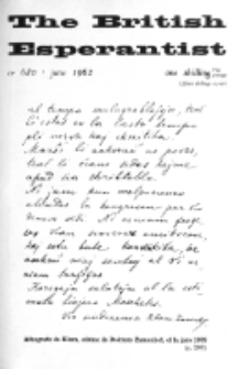 The British Esperantist : the official organ of the British Esperanto Association. Vol. 58, no 680 (June 1962)